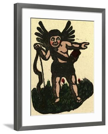 Illustration of English Tales Folk Tales and Ballads. an Angel with an Arrow--Framed Giclee Print