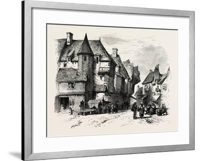 Old Houses at Dol or Dol-De-Bretagne, Normandy and Brittany, France, 19th Century--Framed Giclee Print