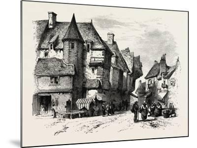 Old Houses at Dol or Dol-De-Bretagne, Normandy and Brittany, France, 19th Century--Mounted Giclee Print