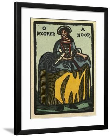 Illustration of English Tales Folk Tales and Ballads. a Woman with a Hoop Skirt--Framed Giclee Print