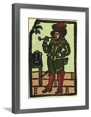 Illustration of English Tales Folk Tales and Ballads. a Man Smoking a Pipe--Framed Giclee Print