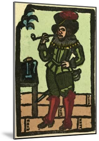 Illustration of English Tales Folk Tales and Ballads. a Man Smoking a Pipe--Mounted Giclee Print