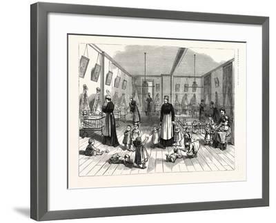 The Upper Creche and Pound for Small Children in the Fitch Creche Buffalo N.Y--Framed Giclee Print