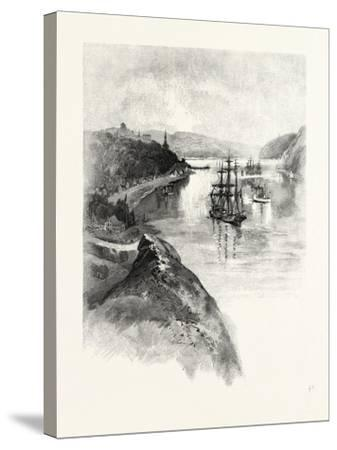 The Lower St. Lawrence and the Saguenay, Chicoutimi, Canada, Nineteenth Century--Stretched Canvas Print