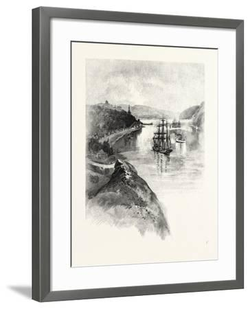 The Lower St. Lawrence and the Saguenay, Chicoutimi, Canada, Nineteenth Century--Framed Giclee Print