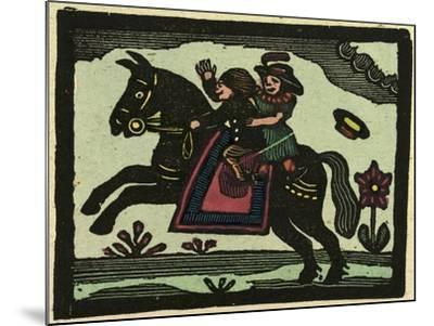 Illustration of English Tales Folk Tales and Ballads. Two Children on a Horse--Mounted Giclee Print