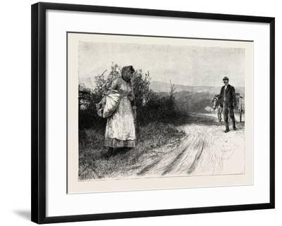 Tess of the D'Urbervilles: Tess Stood Still, and Turned to Look Behind Her--Framed Giclee Print