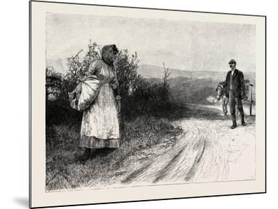 Tess of the D'Urbervilles: Tess Stood Still, and Turned to Look Behind Her--Mounted Giclee Print