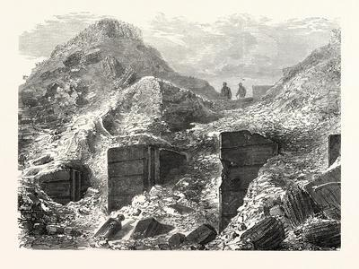 Franco-Prussian War: a Part of the Ramparts before Paris after the Bombing, France--Framed Giclee Print