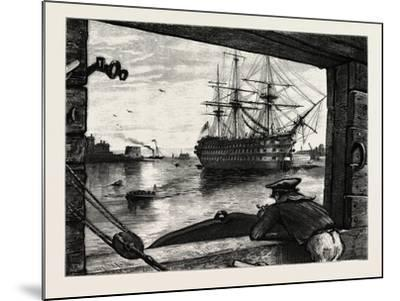 The Victory, Nelson's Ship. Horatio Nelson, 1st Viscount Nelson, British Admiral--Mounted Giclee Print