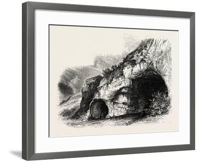 The Dove Holes, Dove Dale, the Dales of Derbyshire, Country, UK, 19th Century--Framed Giclee Print