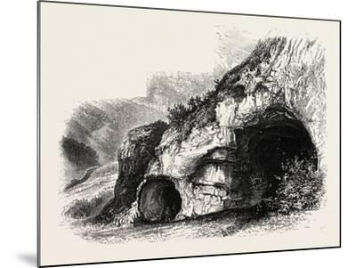 The Dove Holes, Dove Dale, the Dales of Derbyshire, Country, UK, 19th Century--Mounted Giclee Print