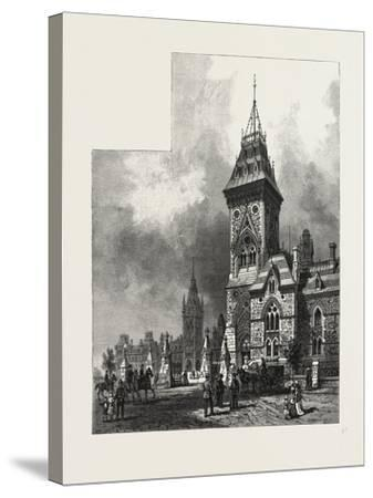 Ottawa, Tower of Eastern Block, Departmental Buildings, Canada, Nineteenth Century--Stretched Canvas Print