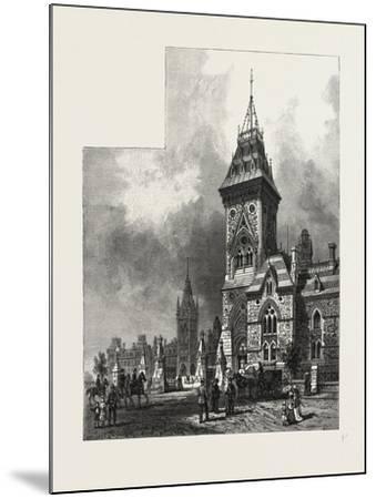 Ottawa, Tower of Eastern Block, Departmental Buildings, Canada, Nineteenth Century--Mounted Giclee Print