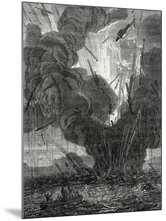 Robert Fulton Blows Up a Boat with His Infernal Machine in the Harbor of Brest--Mounted Giclee Print