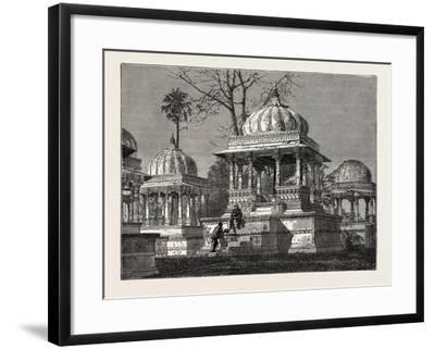 The Exterior of the Cemetery of Mara Sati, at Ahar, Near Oodeypore, India--Framed Giclee Print