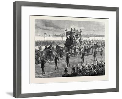Funeral of the Empress of Russia at St. Petersburg: the Funeral Procession 1880--Framed Giclee Print