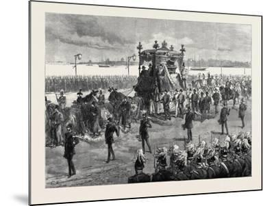 Funeral of the Empress of Russia at St. Petersburg: the Funeral Procession 1880--Mounted Giclee Print