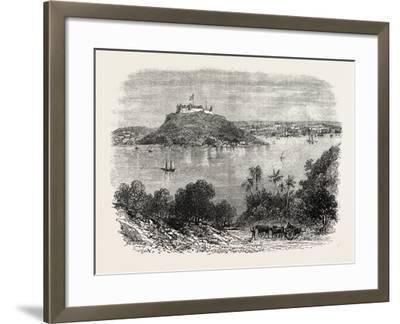 Havannah Harbour, Showing Where the Fifty Invaders Were Shot, 1870S--Framed Giclee Print