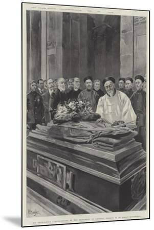 His Excellency Li-Hung-Chang at the Monument of General Gordon in St Paul's Cathedral--Mounted Giclee Print