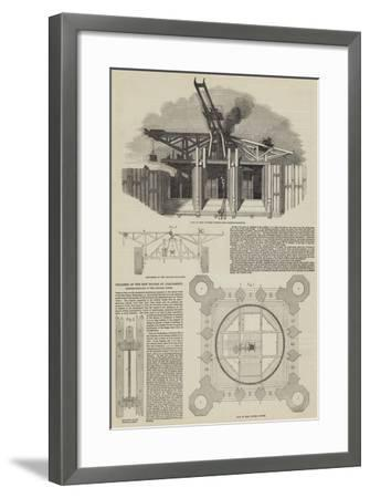 Progress of the New Houses of Parliament, Hoisting-Scaffold of the Victoria Tower--Framed Giclee Print