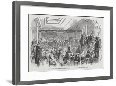 Annual Meeting of the British and Foreign School Society, Lord John Russell, Mp, in the Chair--Framed Giclee Print