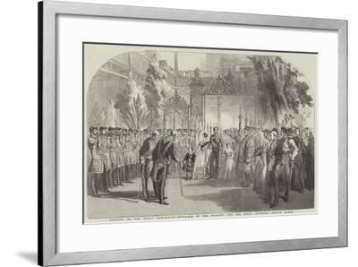 Opening of the Great Exhibition, Entrance of Her Majesty and His Royal Highness Prince Albert--Framed Giclee Print