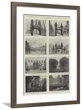 Home-Coming of the Duke and Duchess of Marlborough, Scenes at Woodstock and Blenheim--Framed Giclee Print