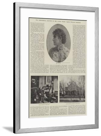 The Presidential Election in the United States, Major William Mckinley--Framed Giclee Print