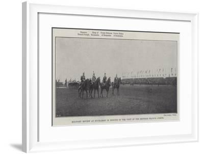 Military Review at Bucharest in Honour of the Visit of the Emperor Francis Joseph--Framed Giclee Print
