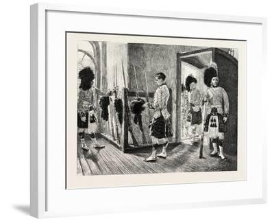 Men Of' the Black Watch in the Guard-Room, Dublin Castle Ireland, 1888--Framed Giclee Print