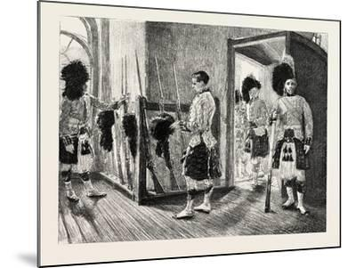 Men Of' the Black Watch in the Guard-Room, Dublin Castle Ireland, 1888--Mounted Giclee Print