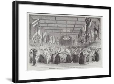 Entertainment to the Patients, at the Middlesex County Lunatic Asylum, Colney Hatch--Framed Giclee Print