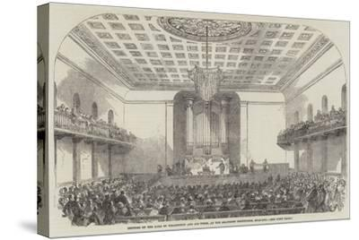 Lecture on the Duke of Wellington and His Times, at the Beaumont Institution, Mile-End--Stretched Canvas Print