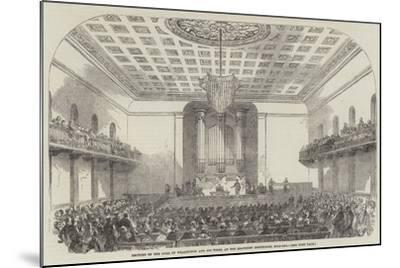 Lecture on the Duke of Wellington and His Times, at the Beaumont Institution, Mile-End--Mounted Giclee Print