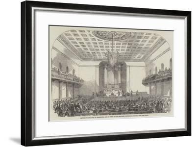 Lecture on the Duke of Wellington and His Times, at the Beaumont Institution, Mile-End--Framed Giclee Print