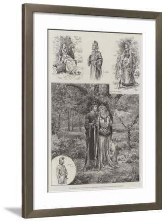 The Pastoral Play Fair Rosamund, Performed by Amateurs in Cannizaro Wood, Wimbledon--Framed Giclee Print