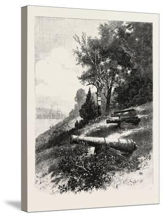 Montreal, Old Battery, St. Helen's Island, Canada, Nineteenth Century--Stretched Canvas Print