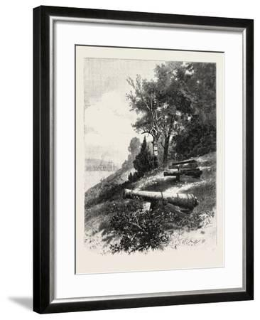Montreal, Old Battery, St. Helen's Island, Canada, Nineteenth Century--Framed Giclee Print