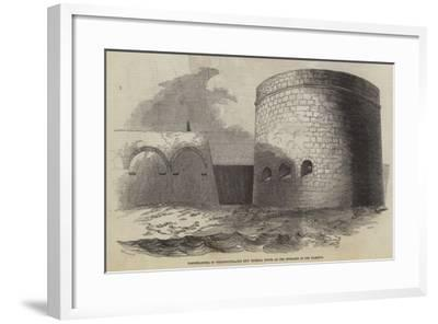 Fortifications of Portsmouth, the New Victoria Tower at the Entrance of the Harbour--Framed Giclee Print
