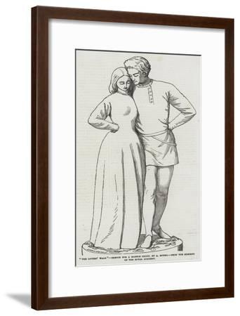 The Lovers' Walk, Sketch for a Marble Group, by a Munro, from the Exhibition of the Royal Academy--Framed Giclee Print