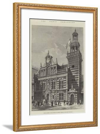 The Paris Exhibition, Dutch Building in the Avenue of Nations, Model of the Hague Townhall--Framed Giclee Print