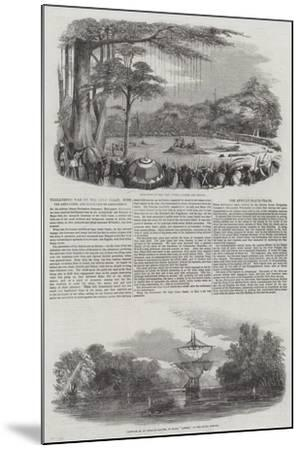 Threatened War on the Gold Coast, with the Ashantees, and Execution of Assin Chiefs--Mounted Giclee Print
