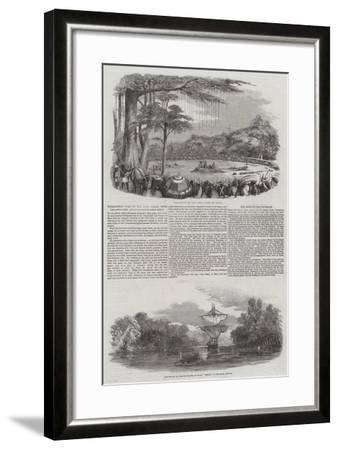 Threatened War on the Gold Coast, with the Ashantees, and Execution of Assin Chiefs--Framed Giclee Print