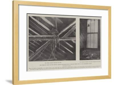 The Thrush's Nest in the Crystal Palace Telegraph-Office Through Which the Cup-Tie Telegrams Passed--Framed Giclee Print