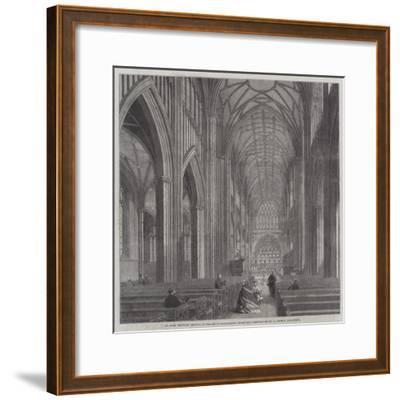 St Mary Redcliff, Bristol, in Process of Restoration under the Direction of Mr G Godwin, Architect--Framed Giclee Print