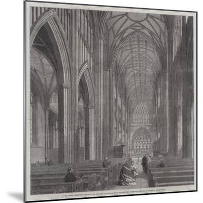 St Mary Redcliff, Bristol, in Process of Restoration under the Direction of Mr G Godwin, Architect--Mounted Giclee Print