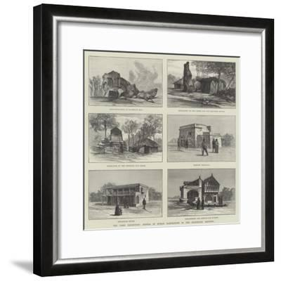 The Paris Exhibition, Models of Human Habitations in the Exhibition Grounds--Framed Giclee Print