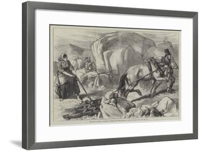 Sketches in Ireland, Harrowing under Difficulties, Mountain Farm in County Mayo--Framed Giclee Print