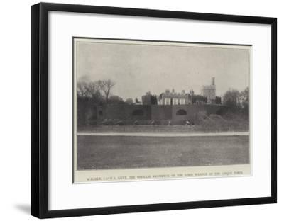 Walmer Castle, Kent, the Official Residence of the Lord Warden of the Cinque Ports--Framed Giclee Print